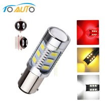 Cree chips 1157 BAY15D 12 led Samsung chips 5630 smd  lamp Red White Yellow p21/5w led car bulbs Car Light Source 12V D0035