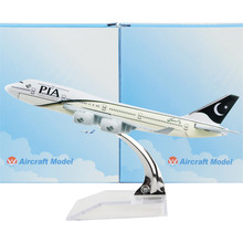 Pakistan International Airlines Boeing 747 16cm model airplane kits child Birthday gift plane models toys  Christmas gift