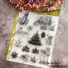 Tree Leaves Special offer ON SALE Handcrafted art Scrapbook DIY photo cards account rubber stamp clear stamp transparent stamp