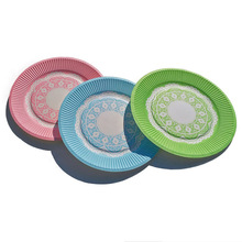 20pcs/lot 7inch New Pink Disposable Cake Dishes Birthday Paper Plate,Party Supplies(China)