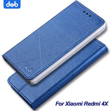 DOB Xiaomi Redmi 4X Case Cover Xiaomi Redmi Note 4X 4 X Flip Cases PU Leather Wallet With Stand Luxury Redmi Note 4X Pro Cover