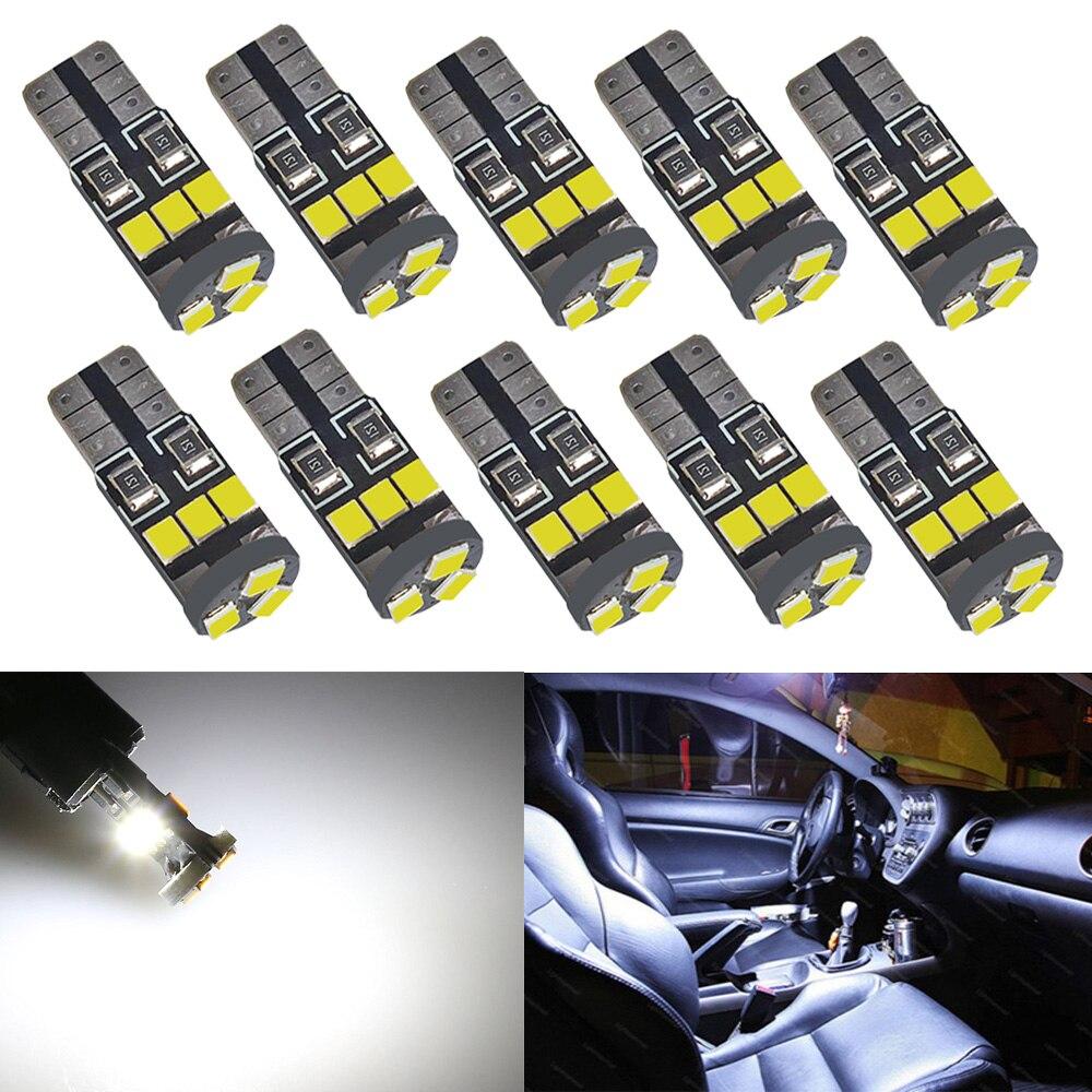 10Pcs//Set T10 LED 9SMD White Car License Plate Light Bulb 2835 192 194 168 W5W