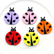 5pcs Felt Cloth Cartoon Beatles Material DIY Children Room Handwork Kid Toy Ladybug For Kids Home Decoration Craft Jewelry New(China)