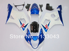 Injection For SUZUKI GSX-R1000 K3 03 04 GSX R1000 K3 Blue White GSXR 1000 2003 2004 GSXR1000 Fairing Kit