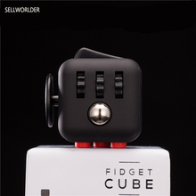 SELLWORLDER 1pcs Fidget Cube Original + 1pcs Zipper Case Puzzles Magic Toys