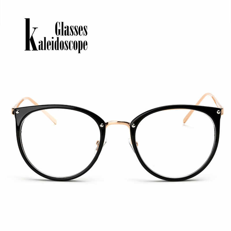 ed605fbfc4 Kaleidoscope Glasses Men Women Big Round Eyewear Frame Metal Legs Oversized  Eyeglasses Frames ransparent Optical Spectacle