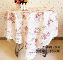 2014 Brand New Table Cloth Cortina Table Decoration Table Cover Flower Pink White Christmas Table Clothes Tablecloth Fahion