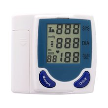 New Health Care Wrist digital lcd Blood Pressure Monitor Automatic Tonometer Meter For Measuring Pulse Rate
