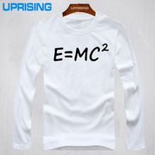 Big Bang theory of evolution Einstein mass energy equation E = mc ^ 2 Printed Mens Men T Shirt Tshirt 2015 long Sleeve T-shirt(China)
