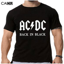 2016 New Camisetas AC/DC band rock T Shirt Mens acdc Graphic T-shirts Print Casual Tshirt Plus Size O Neck Hip Hop Short Sleeve