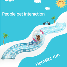 Free toys Hamster running ball track Toy Chinchilla Accessories small pet Runway toys Hamsters and Hedgehog Runway