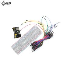 Hot Sale MB102 830 Points Solderless Prototype Breadboard + Power Supply Module + 65 Flexible Jumper Wires for Arduino DIY Kit