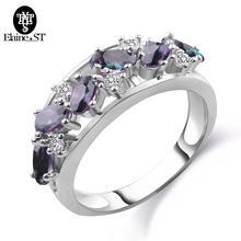 Charm Multicolor Sliver Color Clear Crystal Hollow Out Mid Rings For Women Luxury Romantic Party Wedding Ring Jewelry lace Ring(China)