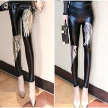 351c4bcbc52 High Waist LEGGING Women Pants Womens Leggings Gold Silver Angel Wings  Sequined Pencil Leggings for Women