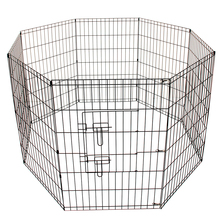 Best 8 Panel Metal Pet Dog Animal Exercise Playpen Fence Enclosure Cage Large 91X61CM(China)