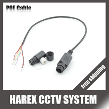 IP camera cable  replace cable RJ45 & Waterproof POE DC 48V input standard IEEE802.3af for CCTV IP camera replace. Free shipping