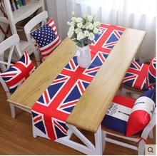 Home Classic British Tablecloth Decorative Gift Table Runner Cotton Pad Hot Selling Models Tablewear(China)