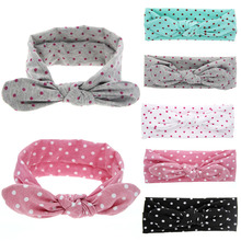 New fashion hair accessories head bands for baby girls cute bunny dot acessorios diademas pelo kinderkleding meisjes vee mall(China)