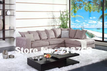 100%cotton Washable fabric Modern furniture couch / living room fabric sectional / corner sofa MCNO9051(China)