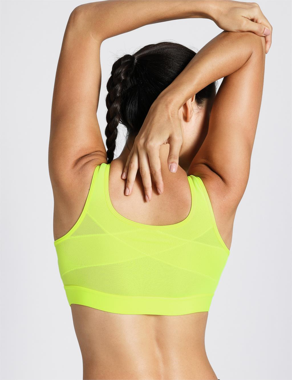 Womens Level 4 Support Non Padded Powerback Underwire Active Bra,Black01,dd,32