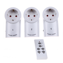 EU Standard 3 Pack Wireless Remote Control Power Outlet Light Switch Plug Socket 433.93 MHz Wireless Power Outlet Socket