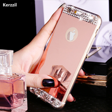 "Luxury Gold Bling Glitter Diamond Soft TPU Phone Case For iPhone 7 & 7 Plus iPhone 6 6S 4.7"" Plus 5.5"" Silicone Back Cover(China)"