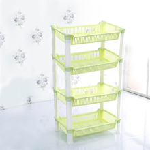 2017 New Arrival 4 Layer New PP Racks Storage Hollow Multi-function Sundries Rack Shelf Products For Kitchen Bathroom Organizer