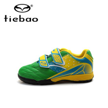 Tiebao Professional Outdoor Football Boots Teenagers National Flag Training Soccer Shoes Children Kids TF Turf Shoes Sneakers