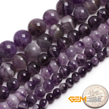 "Round Mixed Color Amethysts Beads: 6mm To 14mm Natural Stone Beads DIY Loose Beads For Bracelet Making Strand 15"" Wholesale !(China)"