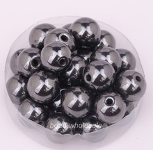 OMH wholesale 4mm 6mm 8mm 10mm 12mm Ball Black Color Magnetic Hematite Findings Spacer Beads Bracelet beads(China)