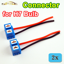 H7 Connector (2 PCS/LOT) Female Ceramic Sockets for H7 Auto Lamp 8CM Connectors of Car Bulb