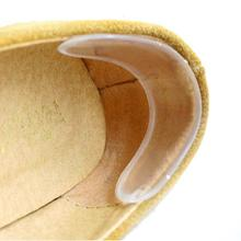 1 pair foot care transparent silicone gel foot shoe heel stick paste footpad,unisex insoles, wearproof insoles 2016 hot !!!(China)