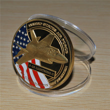F-35 LIGHTNING II coin 1oz UNITED STATES AIR FORCE JET FIGHTER coin 50pcs/lot DHL Free shipping(China)