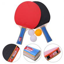 Rubber Table Tennis Racket Table Tennis Pingpong Blade Double Face Ping Pong Racket Paddle Table Tennis Bat Set With Balls