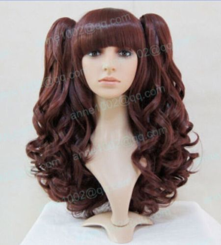 shun Hot heat resistant Party hair&gt;&gt;&gt;&gt;hot sale / lolita long brown Cosplay split type wig H150 10.21<br><br>Aliexpress