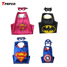 TPRPCO Superhero cape batman super Hero Costume for Children Halloween Party Costumes for Kids superman spiderman C11439