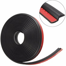 4Meter Z type 3M adhesive car rubber seal Sound Insulation car door sealing strip weatherstrip edge trim noise insulation