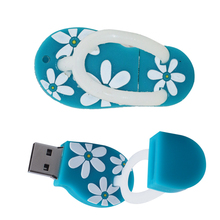 Flower flip flops USB Flash Drive Memory Stick/thumb 4g 8g 16g 32g 64g mini slippers Pendrive U Disk 32 gb key 64 gb tiny