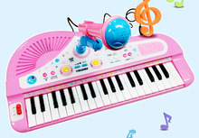 Children's electronic baby educational multifunctional small piano keys with a microphone microphone