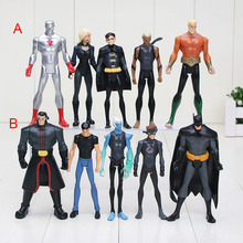 5pcs/set The Avengers Superhero Kid Flash Aquaman Captain Atom Aqualad PVC Action Figures toys(China)
