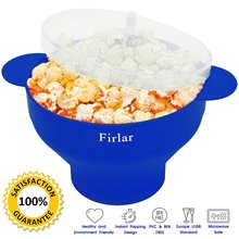 Firlar Microwave Oven Popcorn Maker Folding Food Grade Silicone Pop Corn Bowl Bakingware DIY Popcorn Bucket Kitchen Supplies P20