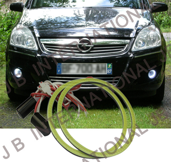 2 pcs Ultra-Thickness COB  LED Angel Eyes,LED 12V-24VDC  for Opel (Vauxhall) Zafira B 2009, is much brighter than CCFL<br><br>Aliexpress