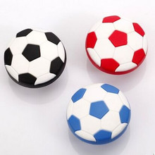 Kids Dresser Drawer Knobs Pulls Handles Football Soccer Black Blue White Red Baby Boys Childrens Cabinet silicon Knob home pull