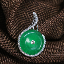 6style green Malaysia stone chalcedony jades drop pendant charms women fit diy chain necklace accessories elegant jewelry B1856