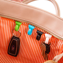 2 pcs/lot colorful Cute mini built-in bag clip prevention lost key hook holder storage clips for Multiple types bag inside