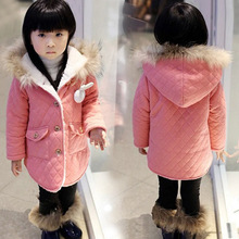 The new winter coat rabbit girl child's coat with Korean manufacturers selling cotton cashmere thickened