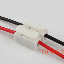 10x 2p Spring Connector wire with no welding no screws Quick Connector cable clamp Terminal Block 2 Way Easy Fit for led strip