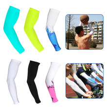 2Pcs/Set (1 Pair) Bike Cycling Ice Silk Arm Sleeves Sun UV Protection Bicycle for Outdoor Games Sports Cycling Hiking
