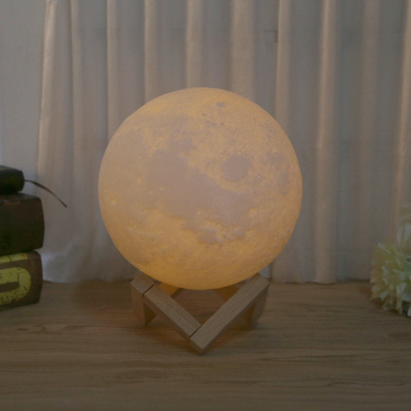 3D Magical Luna Moon Light USB Charging Touch Control LED Lamp