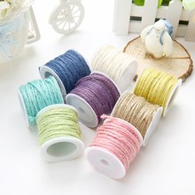 Colorful frame wall hemp rope environmental dyed DIY hand-knitted decorative hemp cord gift pack thread 10 meters 7 colors